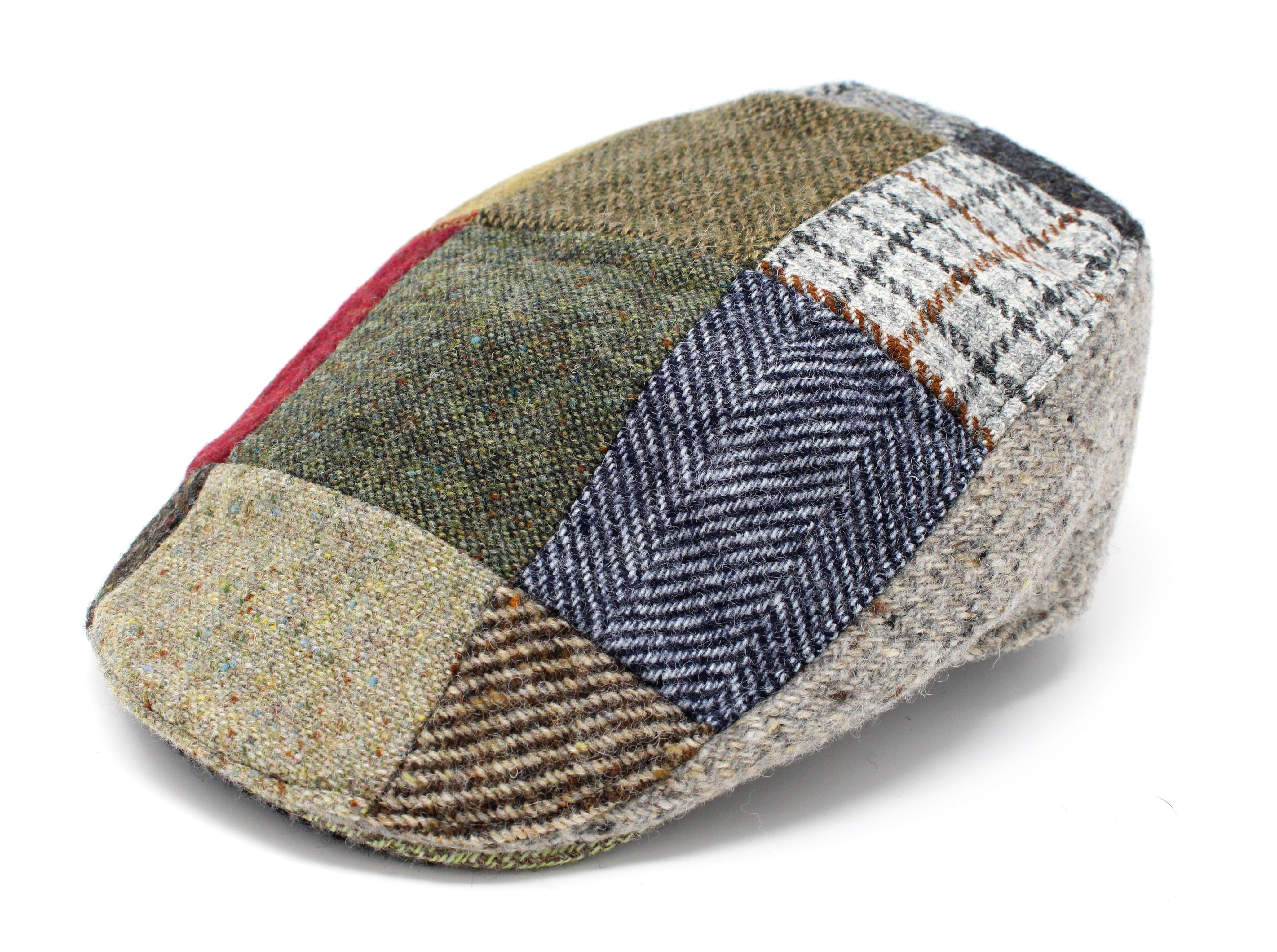 Hanna Hats Donegal Tweed Patchwork  cap