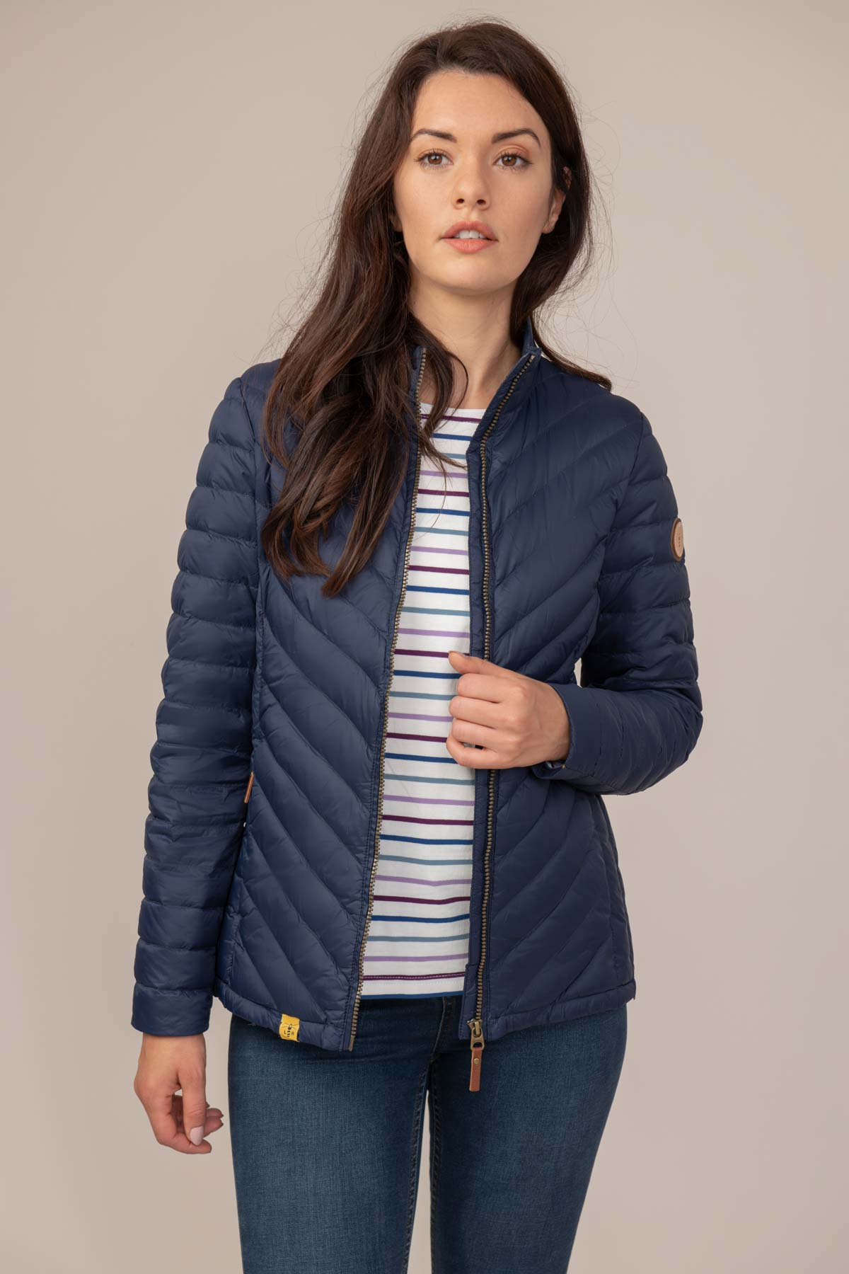Ladies Lighthouse Lara Puffa Jacket Night sky